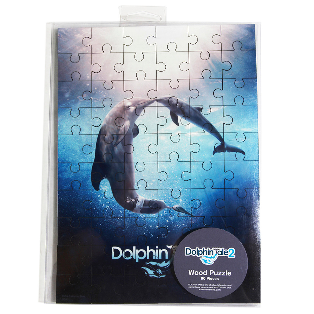 dolphin tale 2 movie poster 60 piece puzzle clearwater marine aquarium