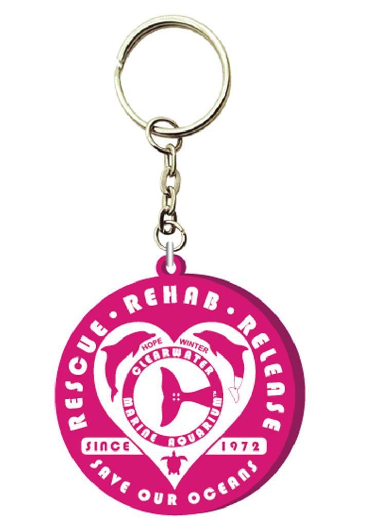 Rescue Authentic Retro PVC Keychain - Pink