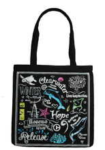 Clearwater Marine Aquarium Inspirational Chalk Print Tote