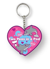 Winter & Hope Two Peas In A Pod Keychain