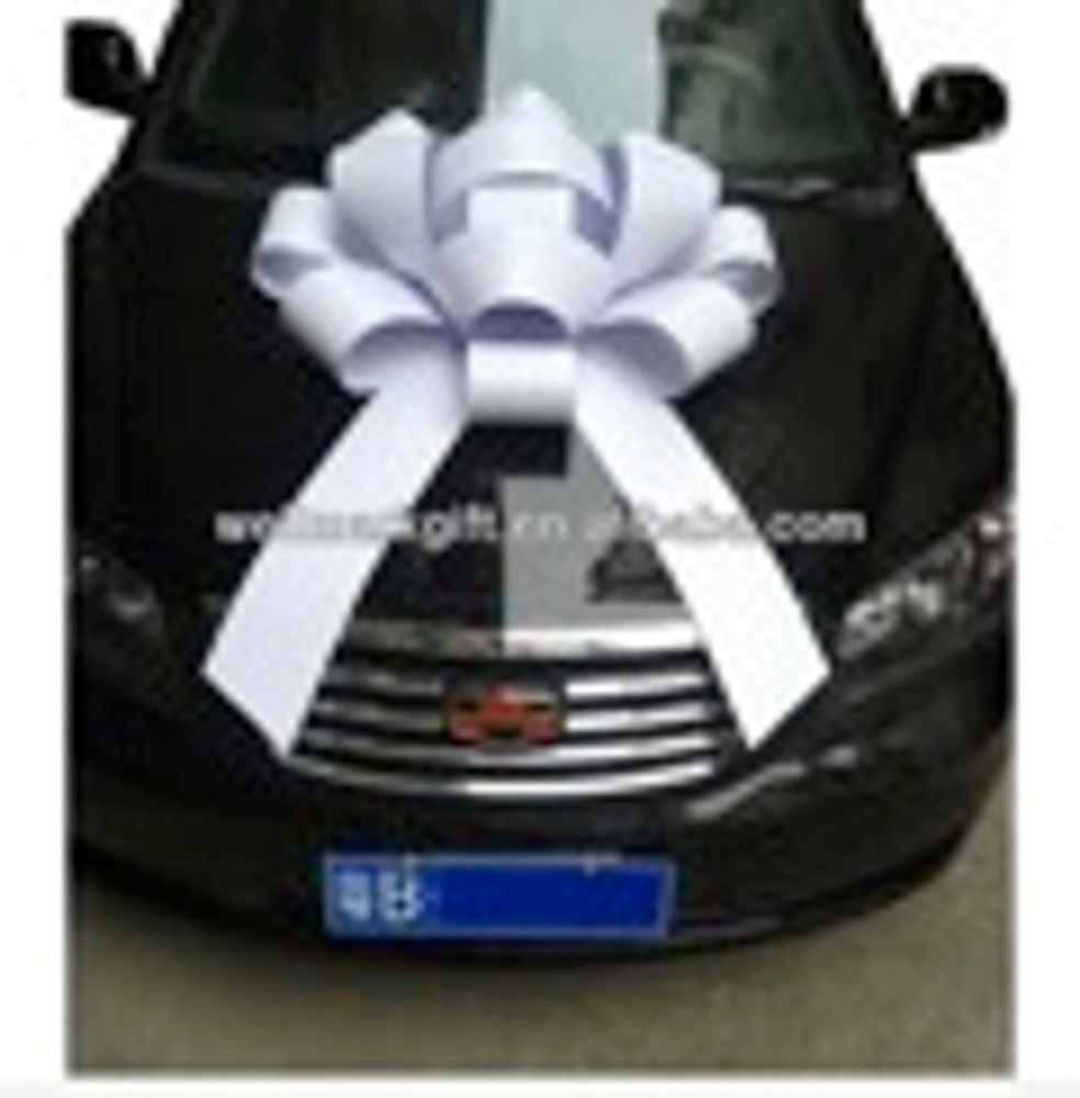 """Large 30"""" Structural Magnetic Car Bow with basic ribbon and choice of color"""