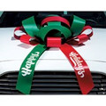 """Large 30"""" Structural Magnetic Car Bow with custom messaging on tails and choice of color"""