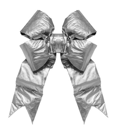 Giant Gold and Silver Bows
