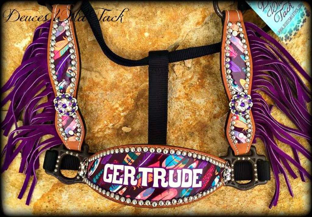 Native Feathers Personalized Halter