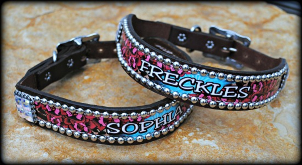 Deuces Wild Design Collar With Name 10-21""