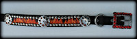 Flames Dog Collar 10-21""