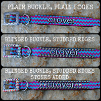 Personalized Chevron Collar