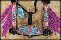 Personalized Pink & Turquoise Chevron Aztec Cheek Halter