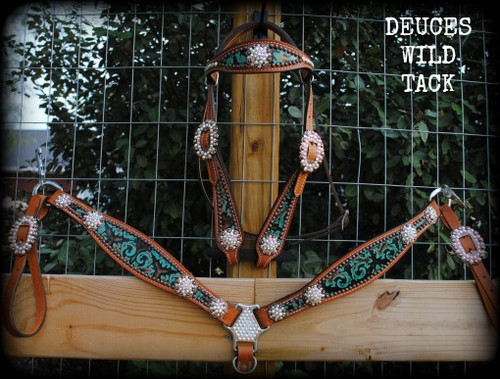 Double Concho Beauty Set - Pick Your Hide!