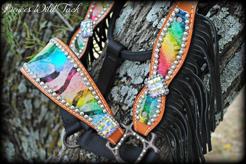 Metallic Rainbow Cheek Halter