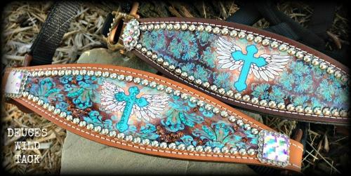 Turquoise Cross Halter