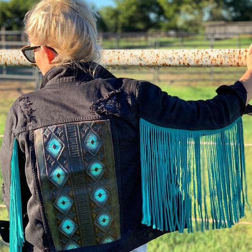 Black & Turquoise Navajo Jacket SIZE MEDIUM