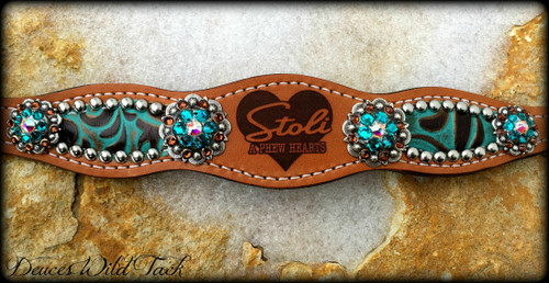 Scalloped Branded Bronc Halter