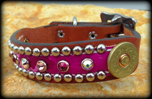 12 Gauge Collar Blinged 10-21""