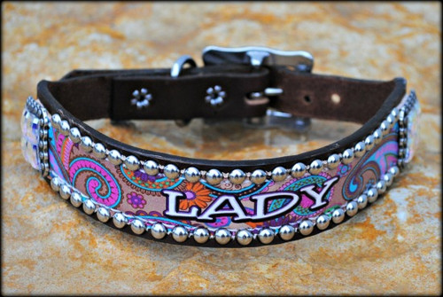 Paisley Collar With Name 10-21""