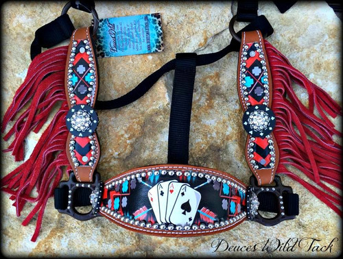 Native Cards Cheek Halter-Red Design
