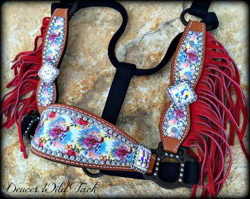 Skulls and Roses Cheek Halter