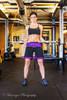 Black and Purple Female MMA Shorts