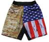 Multicam Flag Athletic Shorts designed for Crossfit