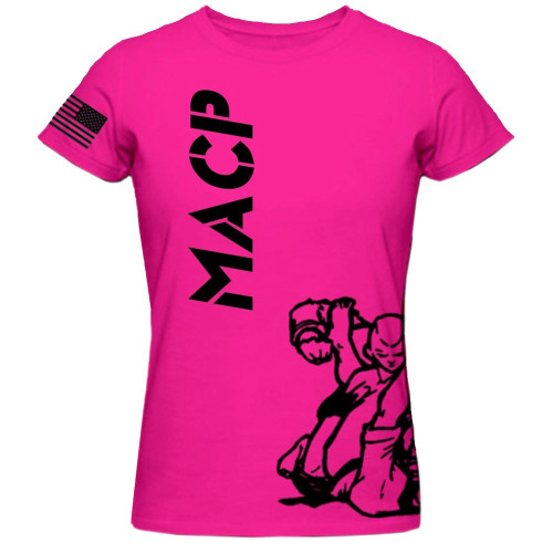 Hot Pink MACP Fight Shirt -100% Cotton