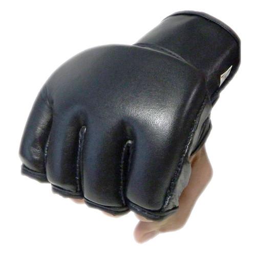 Plain Black MMA Gloves