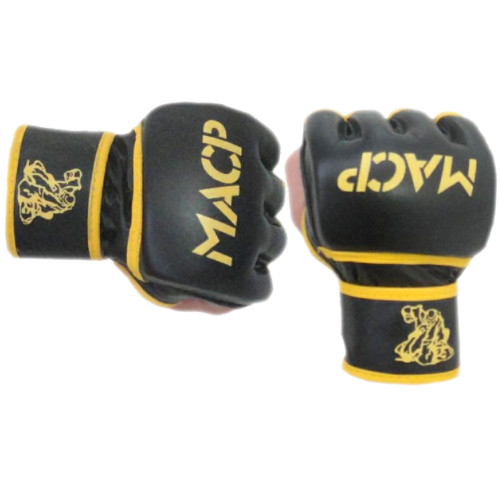 Black and Gold MACP Grappling Gloves