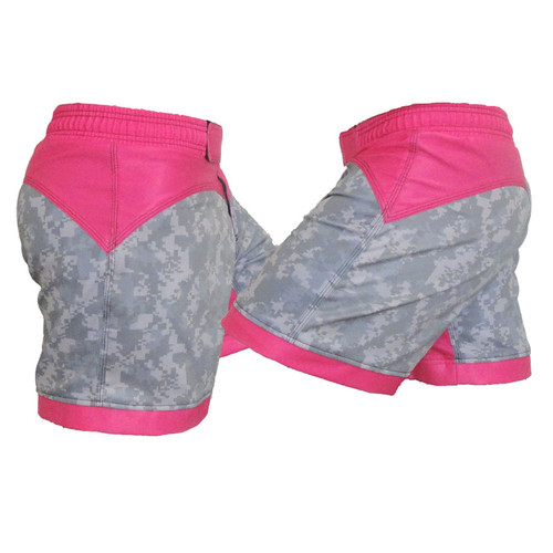 ACU and Pink Female MMA Shorts