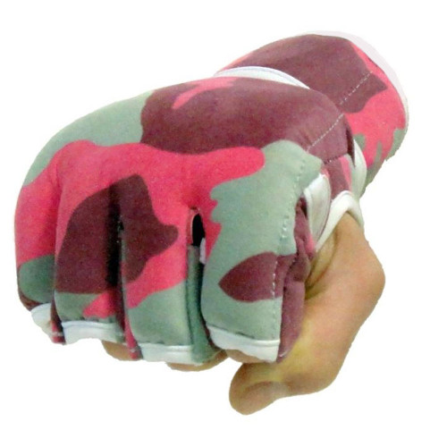 Pink Camouflage MMA Fight Grappling Gloves