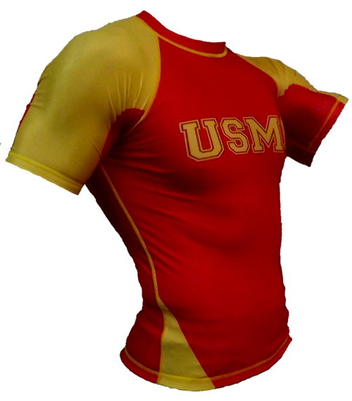 USMC Rash Guard Short Sleeve