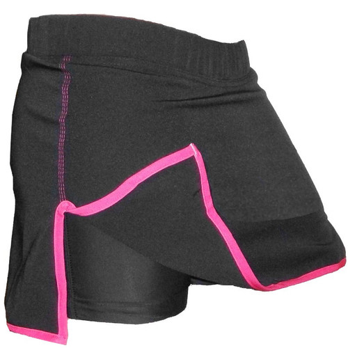 Female Black and Pink MMA Fight Skort