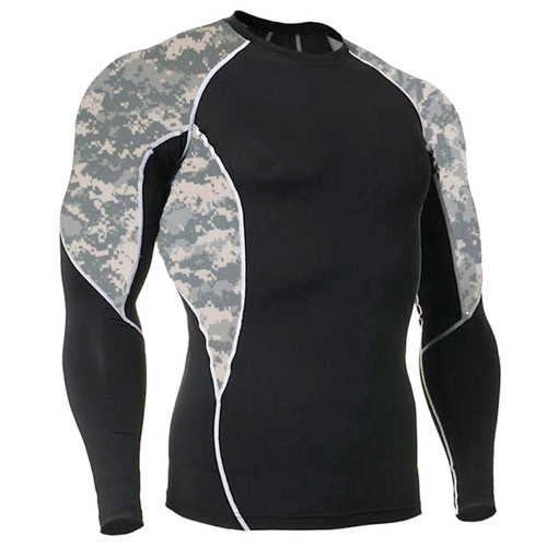 Long Sleeve Rash Guard ACU with Side Panel