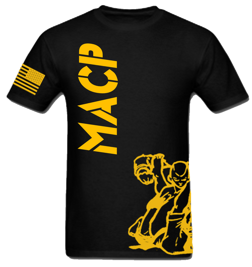 Black and Gold Fight Shirt -100% Cotton