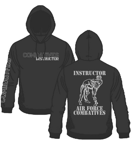 Air Force Combatives Instructor Hoodie Black with Silver Ink