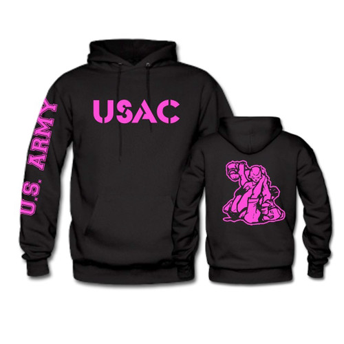 USAC Fighter Hoodie wIth Pink Print