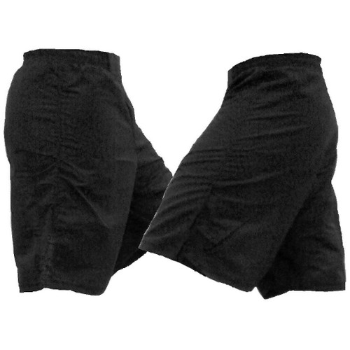 Black MMA style Athletic Shorts - No Slit in Leg