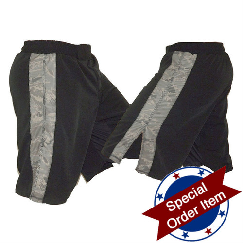 Black MMA Fight Shorts with ABU Stripe