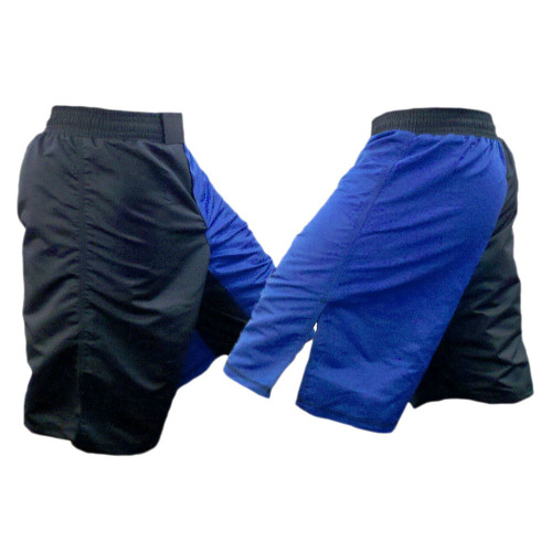 Blue and Black Blank Two Toned MMA Shorts