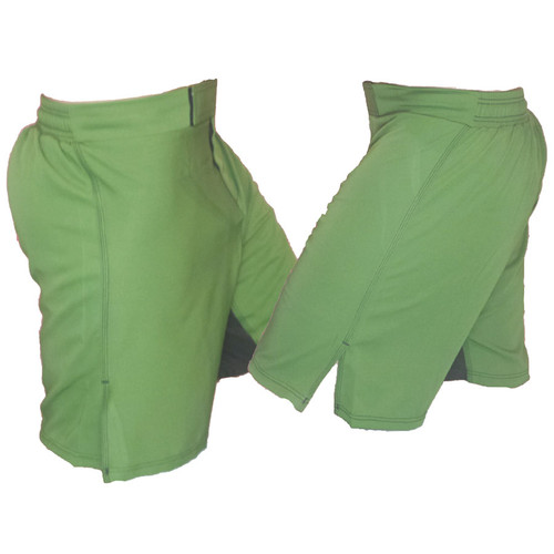 Solid Colored Blank MMA Shorts - Green
