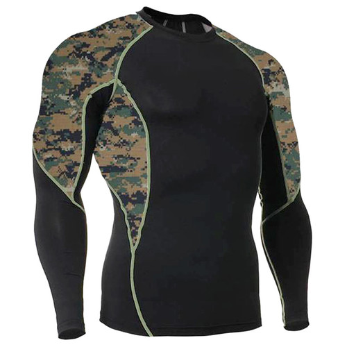 Marpat Camouflage Long Sleeve Side Panel Rash Guard