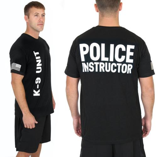 Police Instructor - K9 Verticle - Black Tee