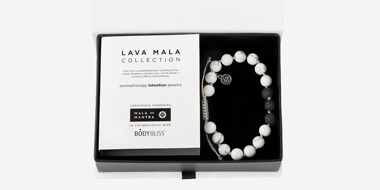 Body Bliss™ Featured in Mala and Mantra New Lava Mala Collection
