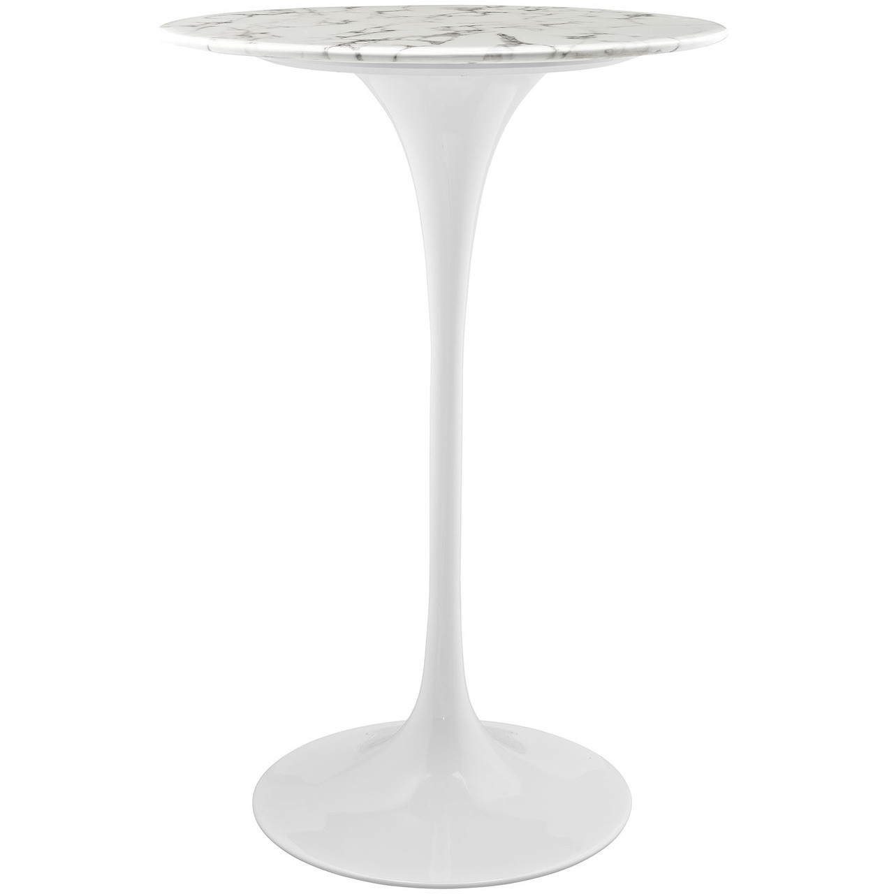 "Lippa 28"" Artificial Marble Bar Table"