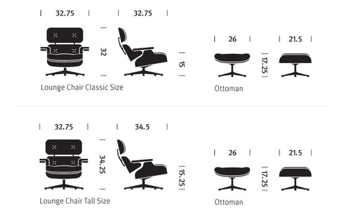 Classic Lounge Chair U0026 Ottoman   Tall Version