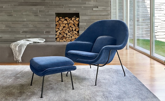 Curl Up In The Womb Chair Replica And Ottoman