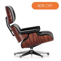 Classic Lounge Chair & Ottoman Black
