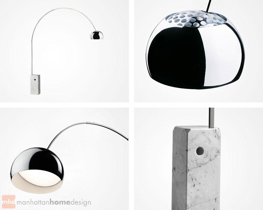 Arco lamp arco floor lamp manhattan home design achille castiglioni arco lamp specifications aloadofball Gallery