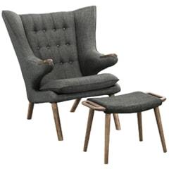 Papa Bear Lounge Chair & Ottoman
