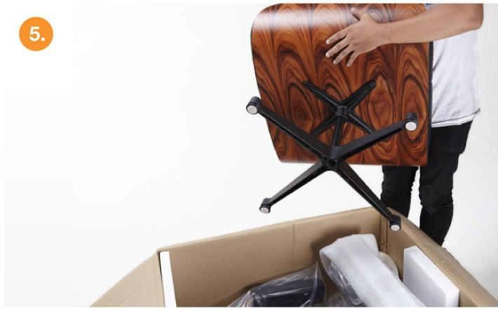 eames lounge chair replica assemble step-5