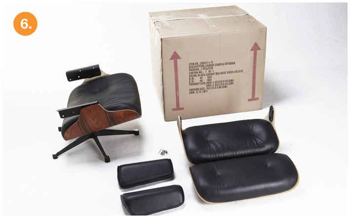 eames lounge chair replica assemble step-6