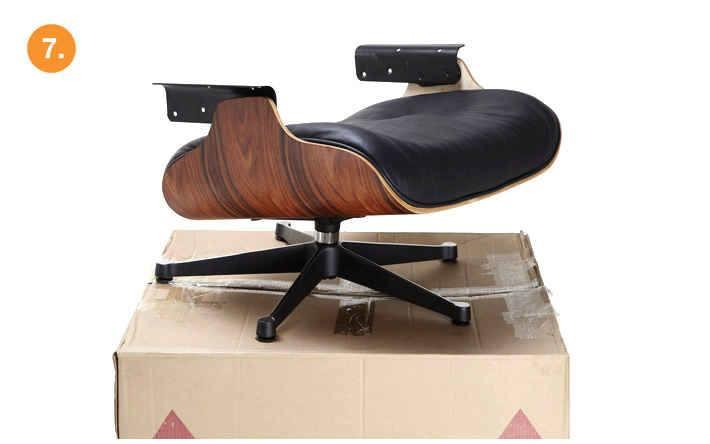 eames lounge chair replica assemble step-7